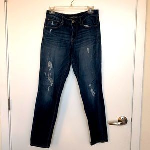Super Skinny Mid Rise Distressed Jeans
